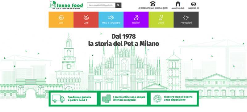 Sito web Fauna Food